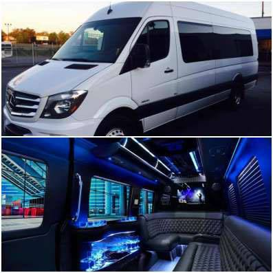 The Mercedes Sprinter limo
